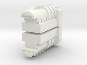 TR Powermaster Prime Shoulder Cannon Fillers in White Natural Versatile Plastic