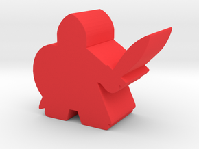 Meeple Knight in Red Strong & Flexible Polished