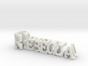 3dWordFlip: Rebecca/Generous in White Natural Versatile Plastic