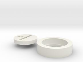 "Korbanth K4 1"" Neopixel Adapter in White Natural Versatile Plastic"