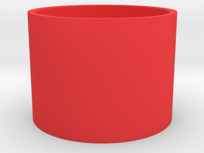 flower pot in Red Processed Versatile Plastic