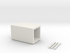 Tissue box in White Natural Versatile Plastic