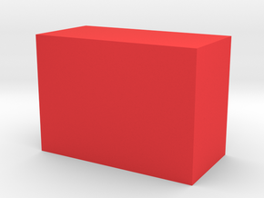 Storage Box in Red Processed Versatile Plastic