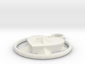 lover necklace in White Natural Versatile Plastic: Medium