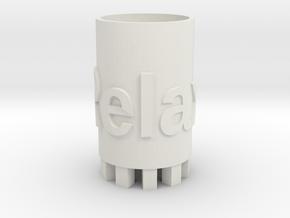 Relaxing cup in White Natural Versatile Plastic: Medium