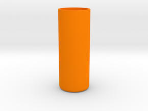 Shotglass Vase in Orange Processed Versatile Plastic
