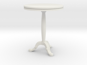 Bistro Table in White Natural Versatile Plastic