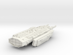 Ancient Corvette clas ship - 210 mm hollow in White Natural Versatile Plastic