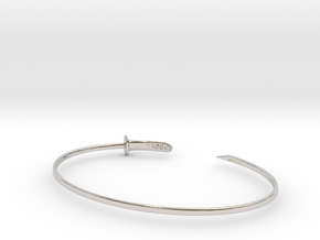 Zanpakuto bracelet in Rhodium Plated Brass