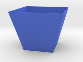 Simple Trapezoidal Planter in Blue Processed Versatile Plastic