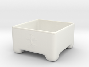 Bonsai Pot in Gloss White Porcelain