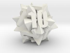 Icosatetrahedra d12 in White Natural Versatile Plastic