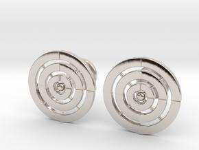 Adinkrahene Cufflinks in Platinum