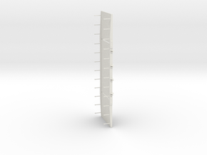 1/87 Scale Three Section Pontoon Bridge in White Natural Versatile Plastic