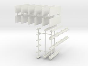 1/87 Scale Bridge Set for Pontoons in White Natural Versatile Plastic