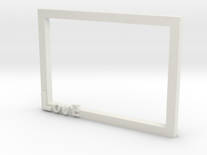 Photo frame in White Natural Versatile Plastic