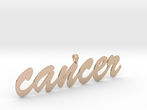 cancer4 in 14k Rose Gold Plated Brass