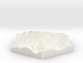 Model of Glacier Peak, WA (10cm, Full-Color) in White Natural Versatile Plastic