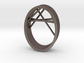Agguvo Ring in Polished Bronzed Silver Steel