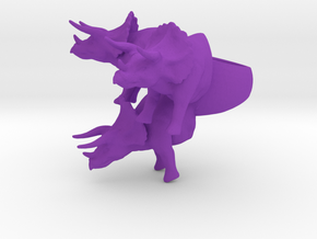 crazy big triceratops ring size 9 in Purple Processed Versatile Plastic