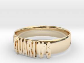 AQUARIUS Bracelets in 14k Gold Plated Brass