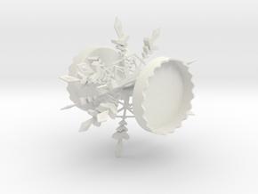 Snow Flake Photo Christmas Tree Ornament  in White Natural Versatile Plastic