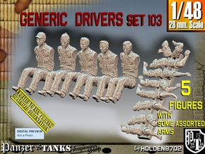 1/48 Drivers Set103 in Smooth Fine Detail Plastic
