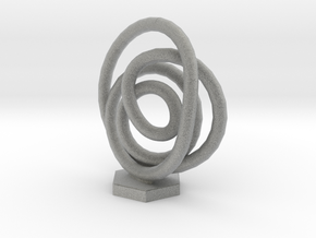 Spiral Knot in Metallic Plastic
