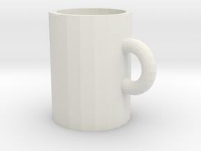 106102231 Cup in White Natural Versatile Plastic