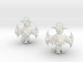 IF Kleinian Earrings in White Natural Versatile Plastic