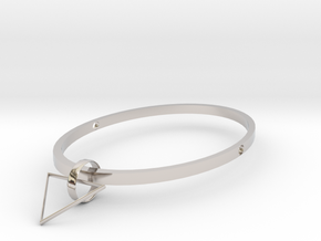 Triangle in Rhodium Plated Brass: Medium