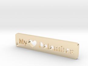 MyTinyDolomites - Key holder in 14k Gold Plated Brass