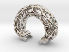 Armreif-frames-55komp.-fix in Rhodium Plated Brass
