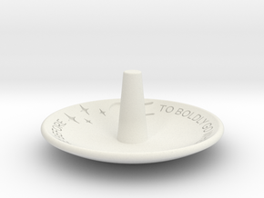 To Boldly Go...Jewelry Dish in White Natural Versatile Plastic