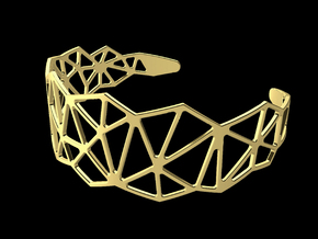 Bracelet - Triangle 01 in 14K Yellow Gold: Small