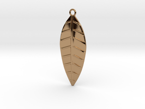 The Palm Leaf Pendant in Polished Brass