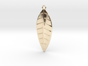 The Palm Leaf Pendant in 14k Gold Plated Brass
