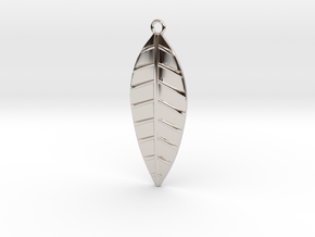 The Palm Leaf Pendant in Rhodium Plated Brass