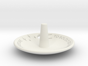 To Boldly Go... Jewelry Dish Full Cut Out in White Natural Versatile Plastic