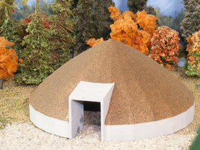 Salt Dome - HOscale in White Natural Versatile Plastic