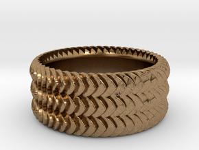 Leaf Ring in Natural Brass