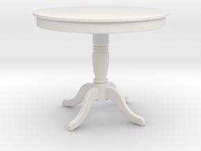 Miniature Round Table Flamingo - StoilLine in White Natural Versatile Plastic: 1:12