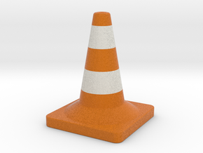 Traffic cone full colors in Full Color Sandstone