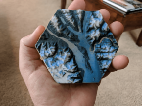Model of Haines and Chilkat Valley (10cm, Color) in Full Color Sandstone