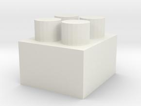Building Blocks.stl in White Natural Versatile Plastic