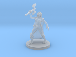 Female Dragonborn Barbarian in Smooth Fine Detail Plastic