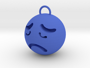 sorrow in Blue Processed Versatile Plastic: Small
