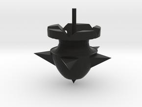 B13 陀螺Top spinning in Black Natural Versatile Plastic