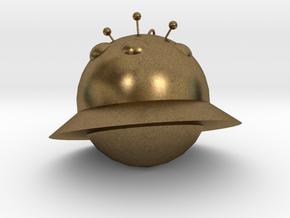 Alien ornaments in Natural Bronze