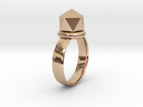 Rings in 14k Rose Gold Plated Brass
